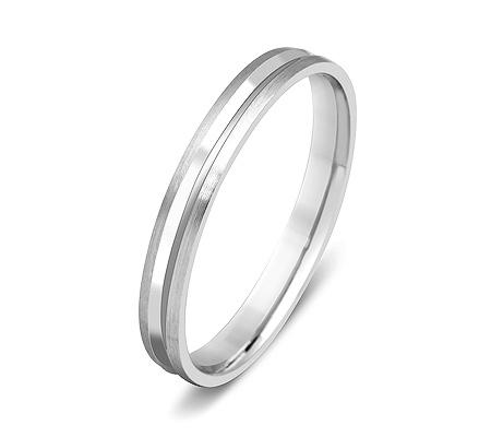 Фото«ZG-50008»Узкое обручальное кольцо из белого золота