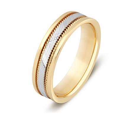 Фото«ZG-50010»Обручальное кольцо из комбинированного золота