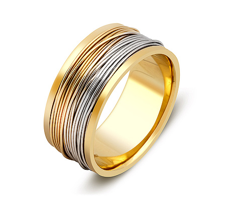 Фото«ZG-50011»Широкое дизайнерское бручальное кольцо из золота