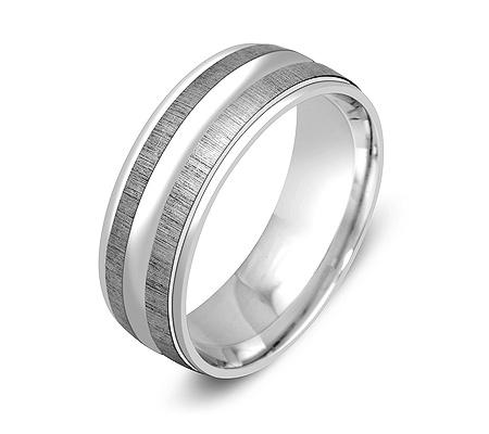 Фото«ZG-50026»Обручальное кольцо из белого золота