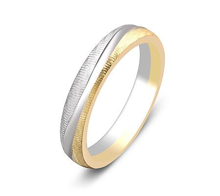 Фото«ZG-50028»Обручальное кольцо из комбинированного золота