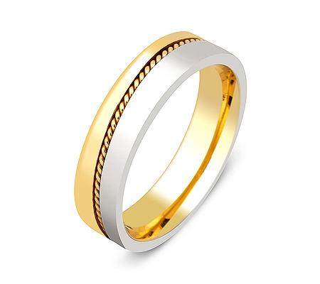 Фото«ZG-50029»Обручальное кольцо два цвета золота