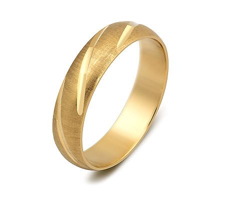 Фото«ZG-50035»Обруччальное кольцо из жёлтого золота