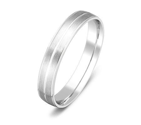 Фото«ZG-50037»Обручальное кольцо из белого золота