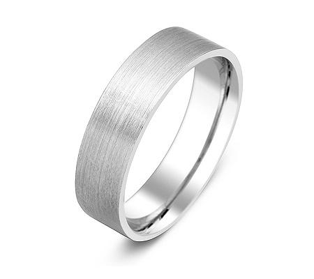 Фото«ZG-50039»Обручальное кольцо из матового белого золота