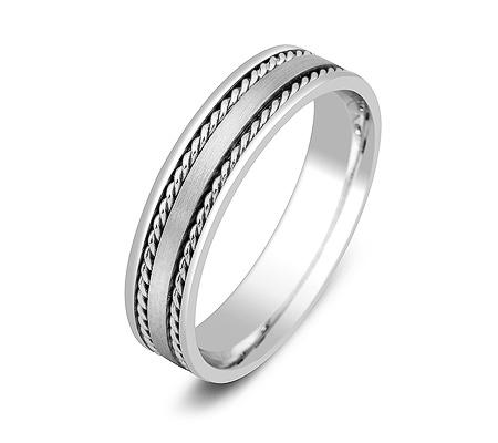 Фото«ZG-50040»Обручальное кольцо из белого золота