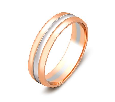 Фото«ZG-50041»Обручальное кольцо из красного и белого золота
