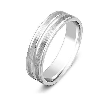 Фото«ZG-50044»Обручальное кольцо из белого золота