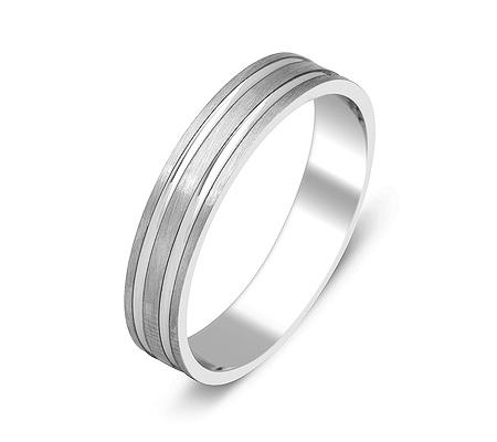 Фото«ZG-50045»Обручальное кольцо из белого золота