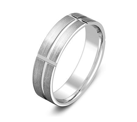 Фото«ZG-50049»Обручальное кольцо из белого золота