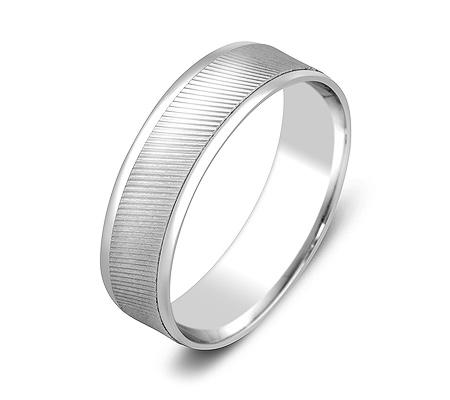 Фото«ZG-50050»Обручальное кольцо из белого золота