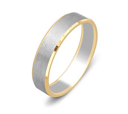 Фото«ZG-50052»Обручальное кольцо из белого и желтого золота