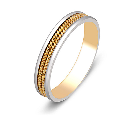 Фото«ZG-50056»Обручальное кольцо из комбинированного золота