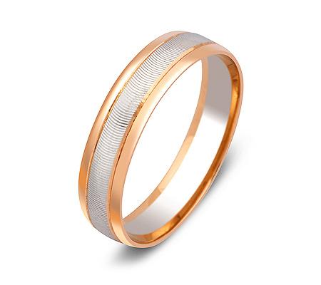 Фото«ZG-50057»Обручальное кольцо из красного и белого золота