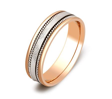 Фото«ZG-50058»Обручальное кольцо из комбинированного золота