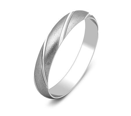 Фото«ZG-50063»Обручальное кольцо из белого золота