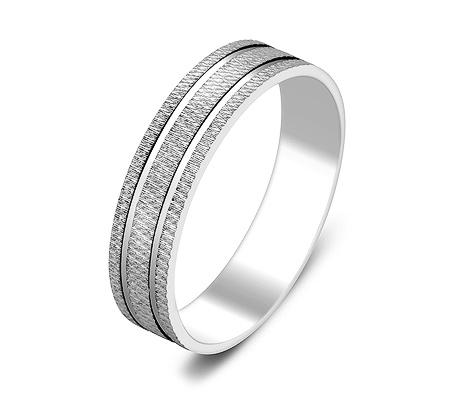 Фото«ZG-50064»Обручальное кольцо из белого золота