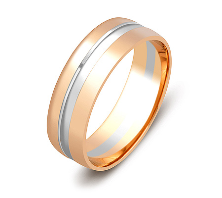 Фото«ZG-50066»Обручальное кольцо из розового и белого золота