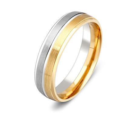 Фото«ZG-50068»Обручальное кольцо два цвета золота