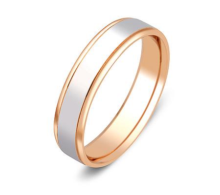 Фото«ZG-50069»Обручальное кольцо из розового и белого золота