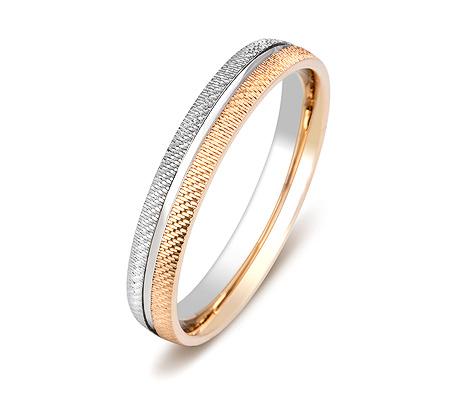 Фото«ZG-50070»Обручальное кольцо из белого и красного золота