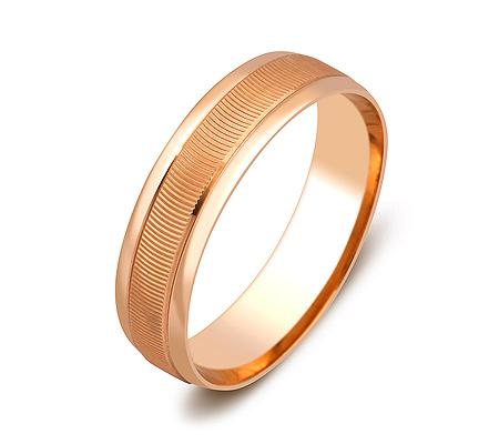 Фото«ZG-50071»Обручальное кольцо из красного золота