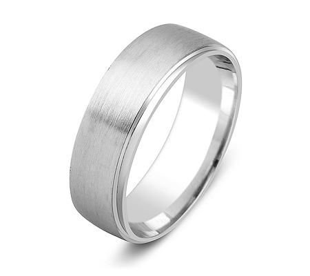 Фото«ZG-50072»Обручальное кольцо из белого золота