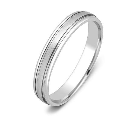 Фото«ZG-50077»Обручальное кольцо из белого золота