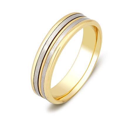 b5829abd2472 Обручальное кольцо из желтого и белого золота - ZG-50079 - Goldzon