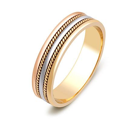 Фото«ZG-50081»Обручальное кольцо из комбинированного золота