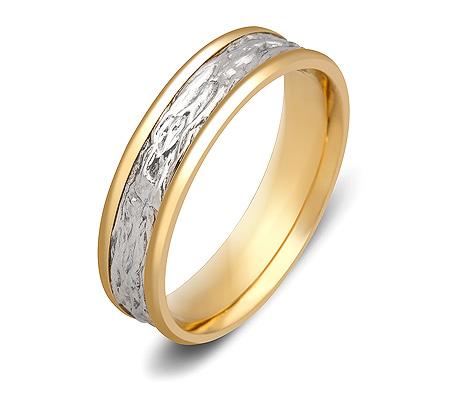 Фото«ZG-50083»Обручальное кольцо из жёлтого и белого золота