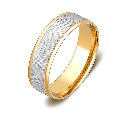 Фото«ZG-50086»Обручальное кольцо из желтого золота белая середина