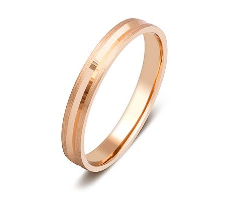Фото«ZG-50089»Обручальное кольцо из красного золота