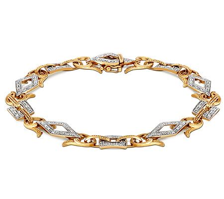 Фото«ZG-7014»Женский браслет из желтого золота с бриллиантами