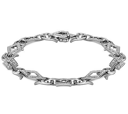 Фото«ZG-7015»Женский браслет из белого золота с бриллиантами