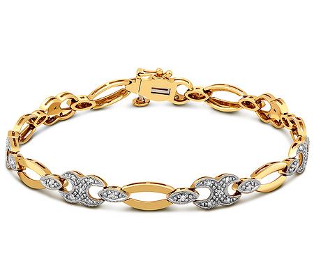 Фото«ZG-7017»Женский золотой браслет на руку с бриллиантами