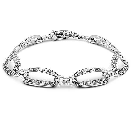 Фото«ZG-7018»Женский браслет из белого золота с бриллиантами