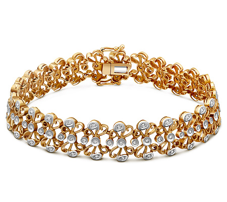 Фото«ZG-7020»Браслет из желтого золота с бриллиантами