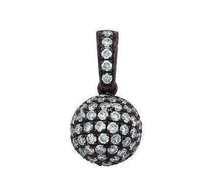 Фото«ZG-9126»Подвеска «Шар» из чёрного золота с бриллиантами