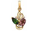 Подвески и кулоны с бриллиантами; Код: ZG-9136; Вес: 1.7г; 0р.