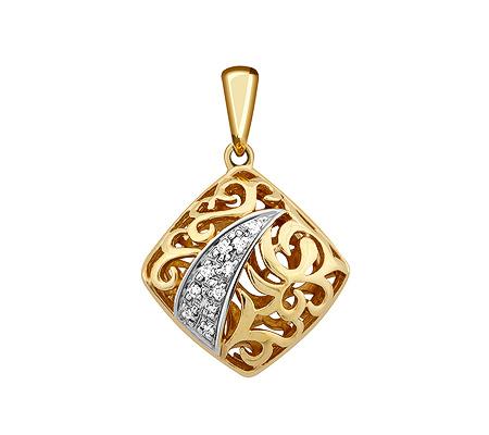 Фото«ZG-9140»Золотая подвеска с бриллиантами